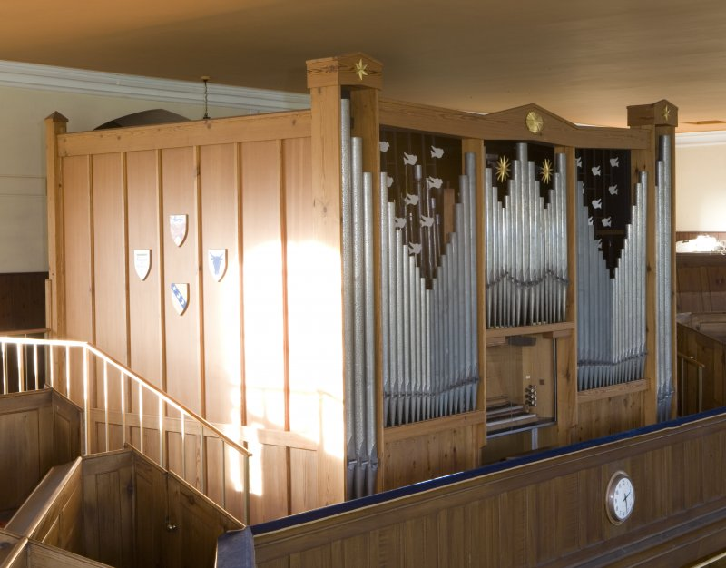 Interior. Detail of organ