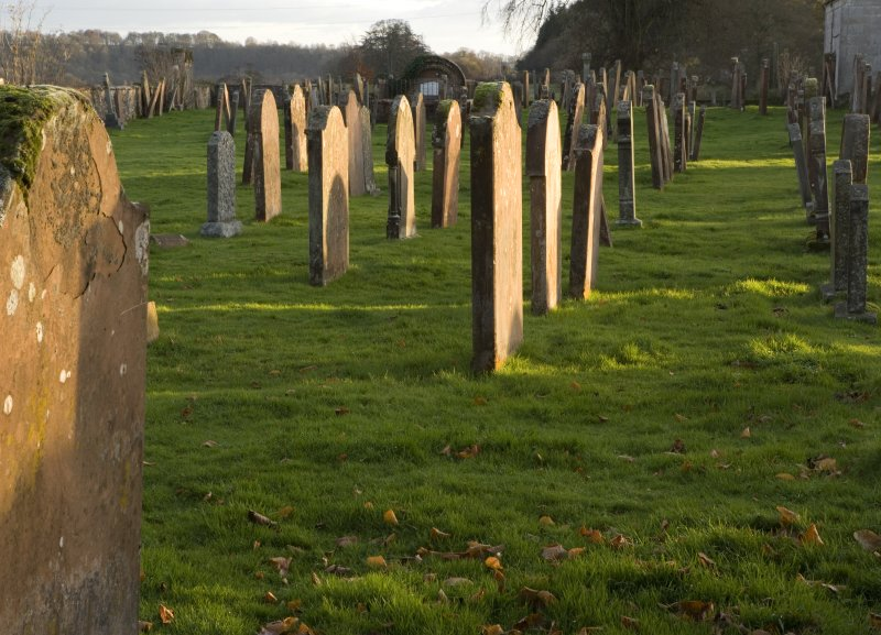 View of graveyard
