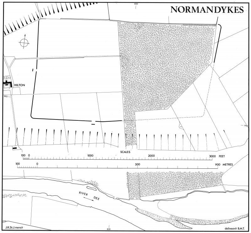 Normandykes Roman temporary camp. Plan.