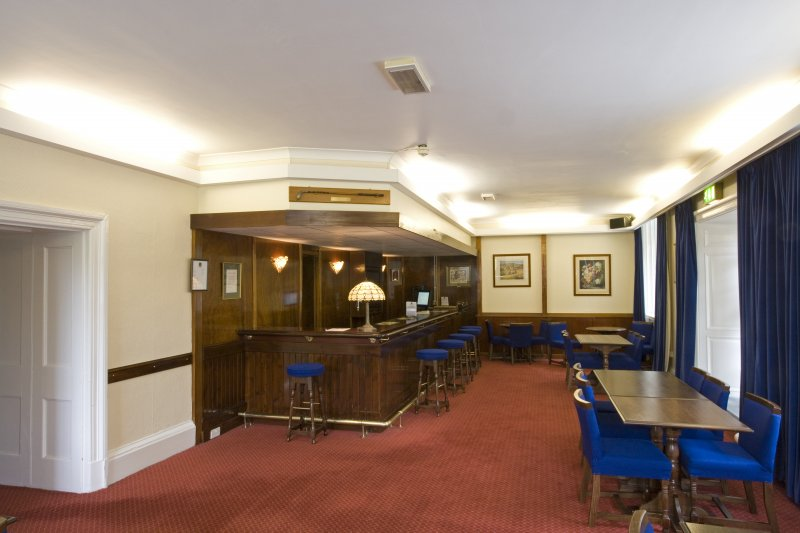Interior.  Basement Officers' bar.