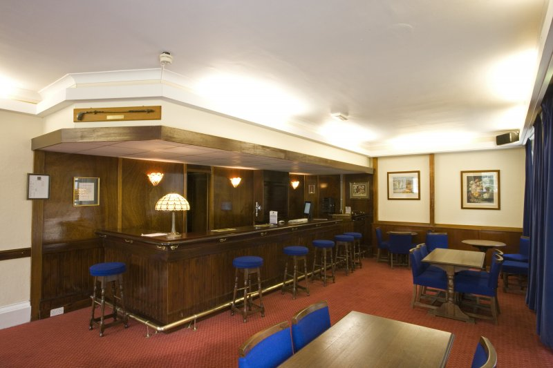 Interior view of Basement Officers' Bar, Craigiehall House, Edinburgh.