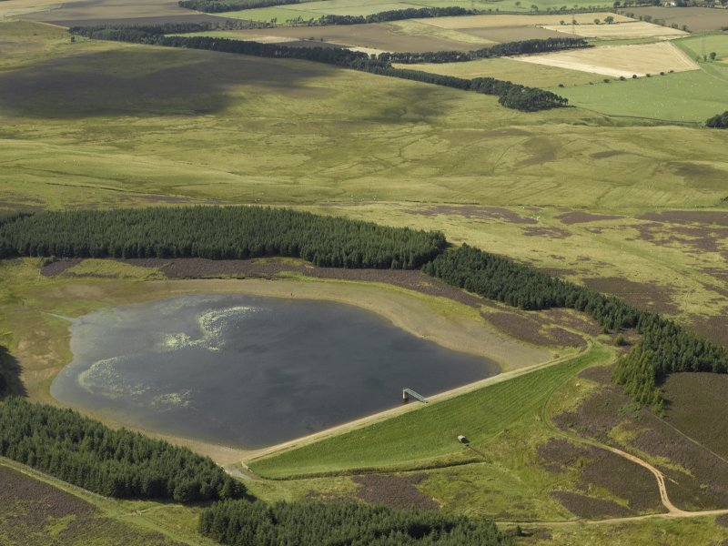 Oblique aerial view centred on the reservoir, taken from the ENE.