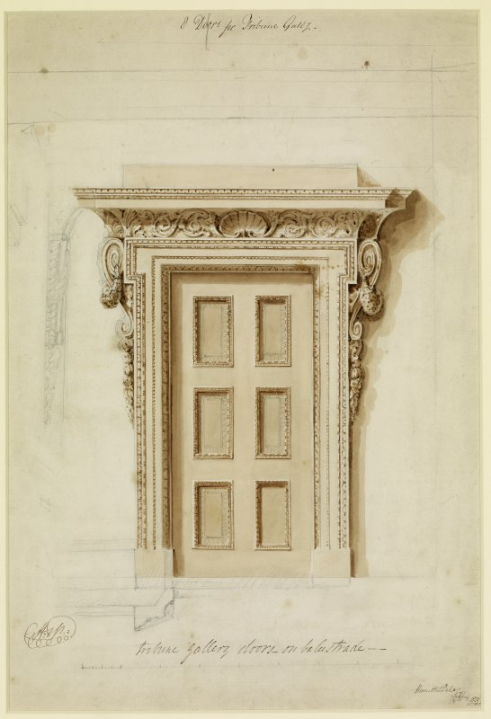 Digital copy of drawing of Tribune Doorway.