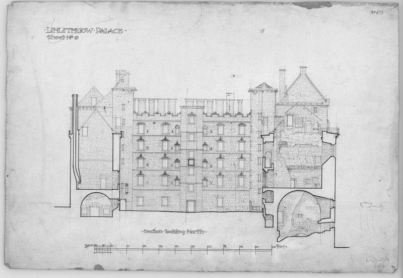 Digital copy of section looking N.