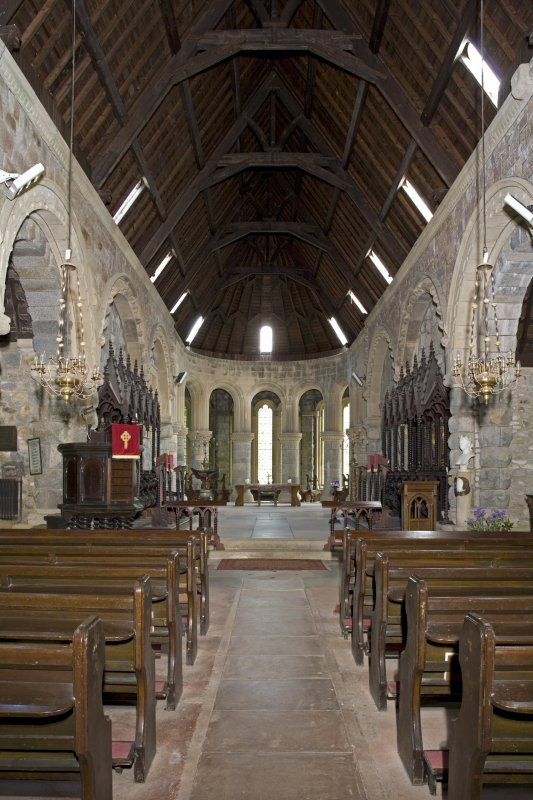 Interior. Nave and chancel, view from W