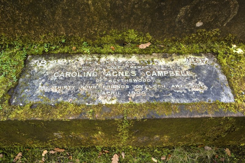 Memorial to Caroline Agnes Campbell to N of church
