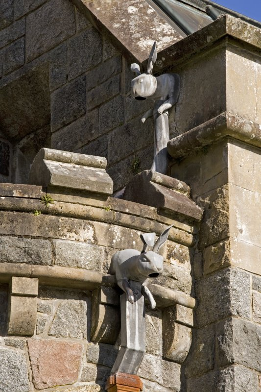 Detail of rabbit rain-water heads, St Conan's Church, Lochawe.