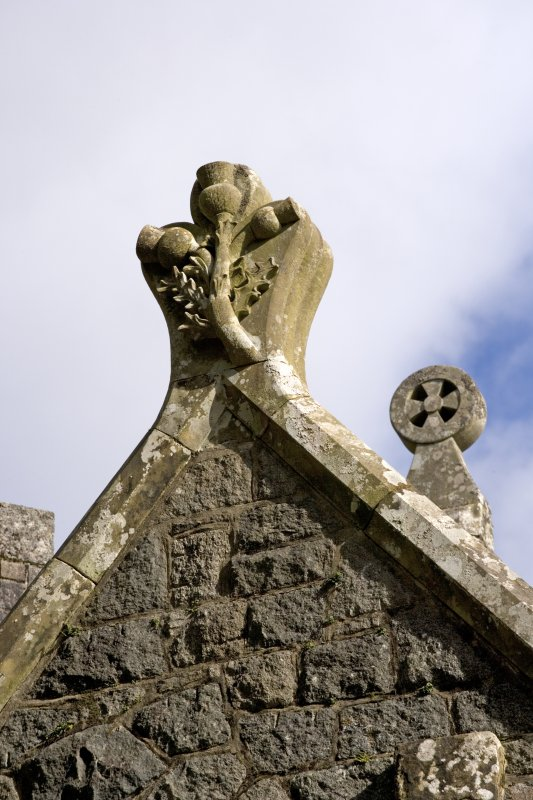 St. Conval's Chapel, detail of gable finial carved with thistle