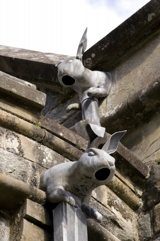 Detail of rabbit rain-water heads