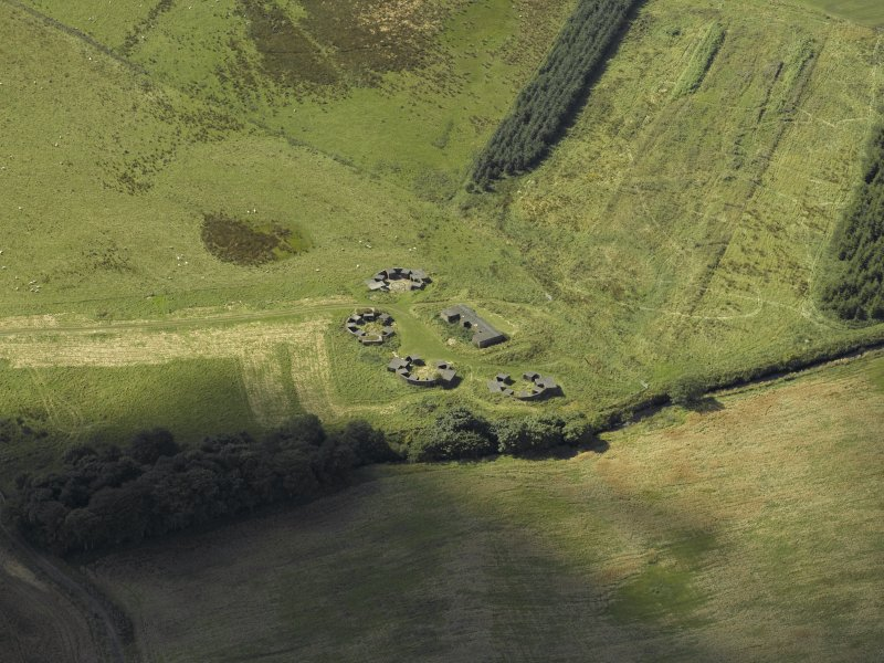 Oblique aerial view centred on the anti-aircraft battery, taken from the N.