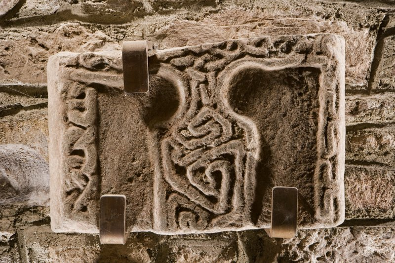 Detail of Pictish cross slab fragment