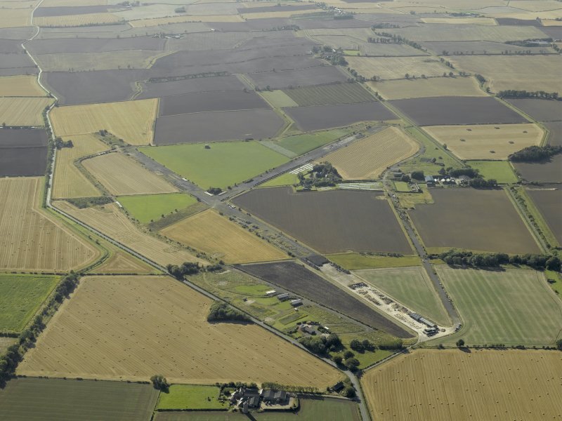 General oblique aerial view of the airfield, taken from the ENE.