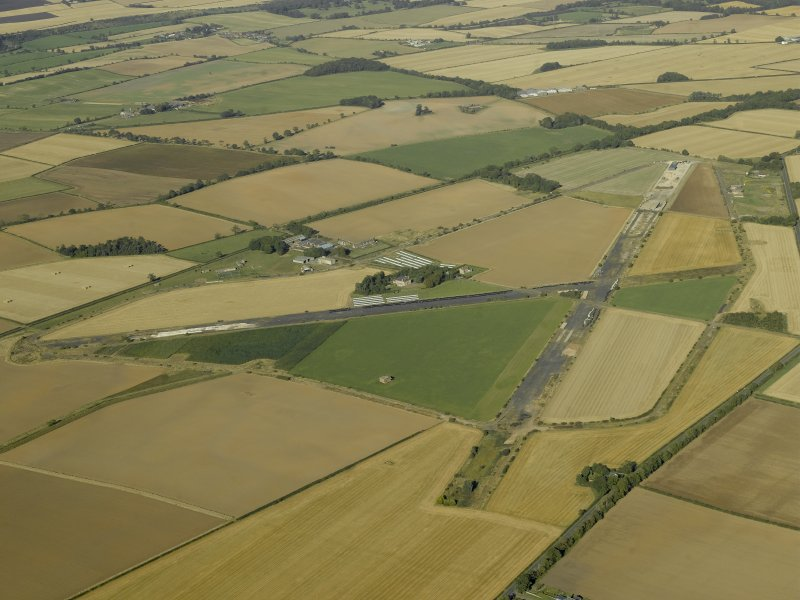 General oblique aerial view of the airfield, taken from the SSW.