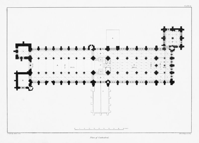 Digital copy of Plate III, plan of Cathedral.
