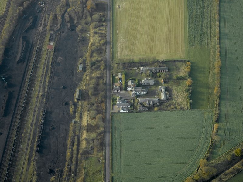 General oblique aerial view centred on the house and hospital buildings, taken from the E.