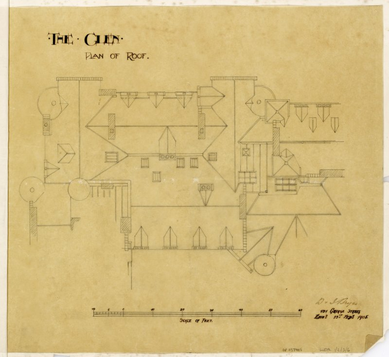 Plan of roof.