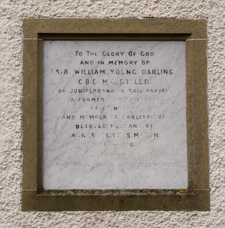 Detail of Sir William Young Darling memorial plaque