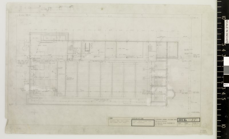 Lower ground floor plan and foundations.