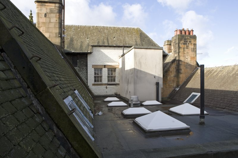 View of gable of No 10 Lowther Terrace from No 8 Lowther Terrace.