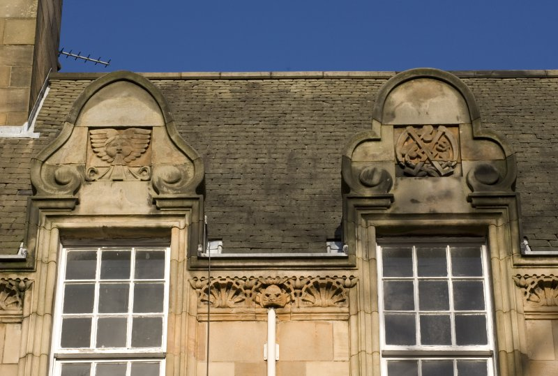 Detail of window pediments.