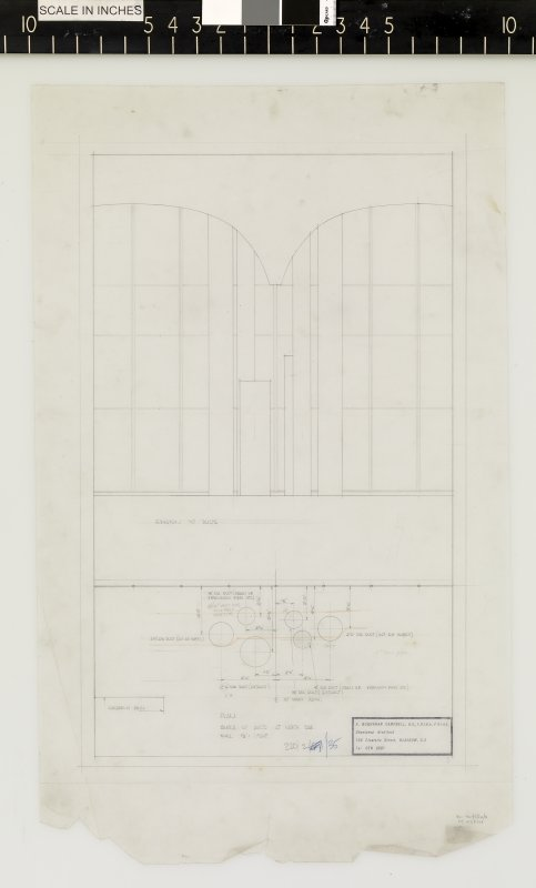 Plan and sketch of ducts by north side.