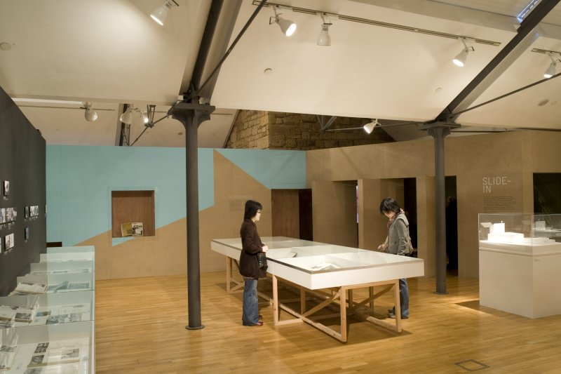 General view of 'Gillespie Kidd & Coia: Architecture 1956-87' exhibition, upper floor.