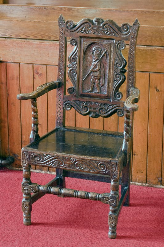 Interior. Old chair. Detail