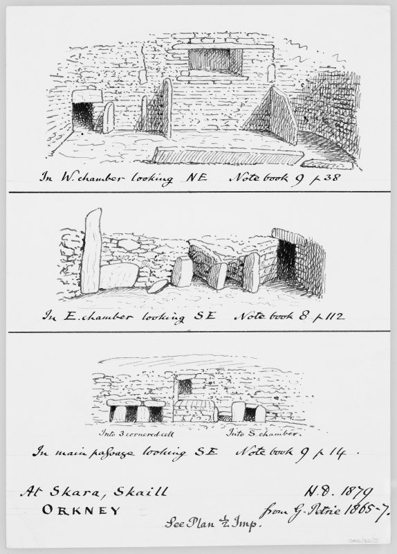 Digital copy of three sketches copied from Petrie 1865-7 (SAS 32).