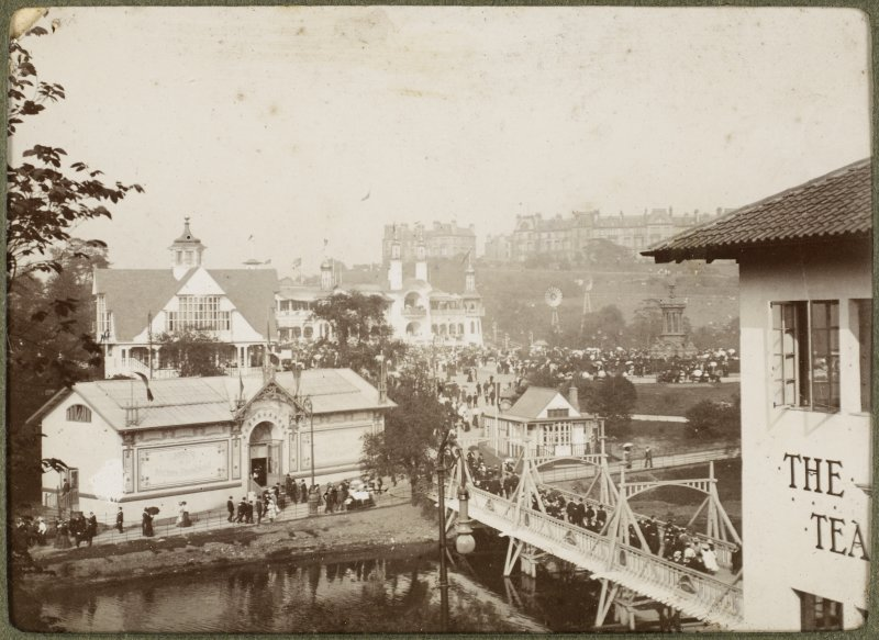 View of buildings at the International Exhibition in Glasgow 1901.