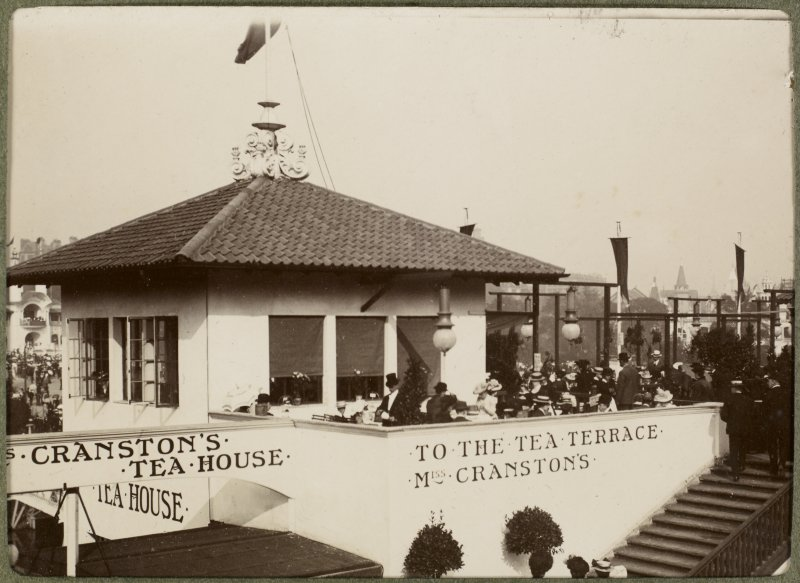 View of Miss Cranston's Tea Rooms at the International Exhibition in Glasgow 1901.