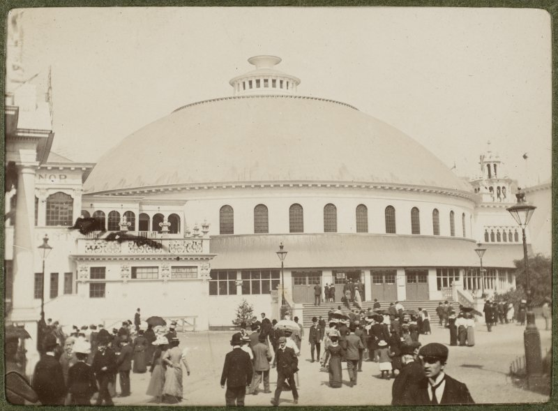View of building at the International Exhibition in Glasgow 1901.