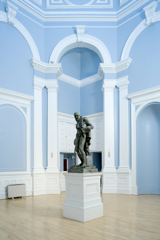 Interior. Entrance hall, view from NE with statue of Diogenesby Stoddart