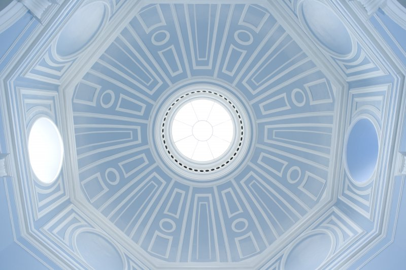 Entrance hall, view of dome. John Neilson Institution, Paisley.