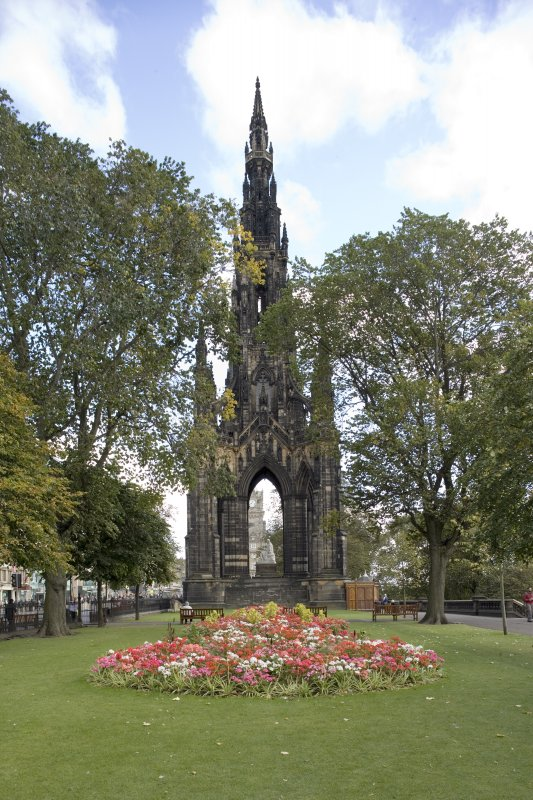 View from west of Scott Monument.