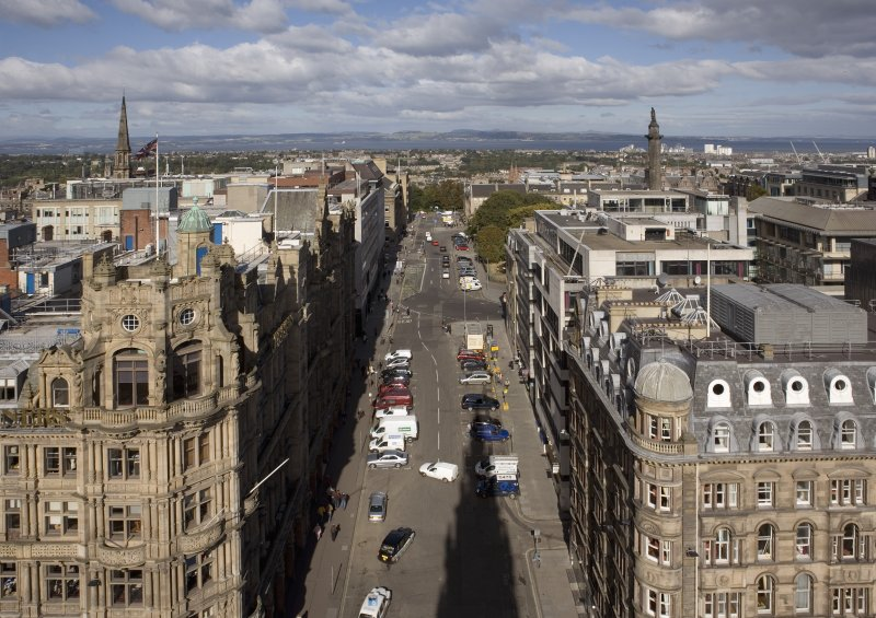 General view taken from the Scott Monument looking N, centring on the South St. David Street.