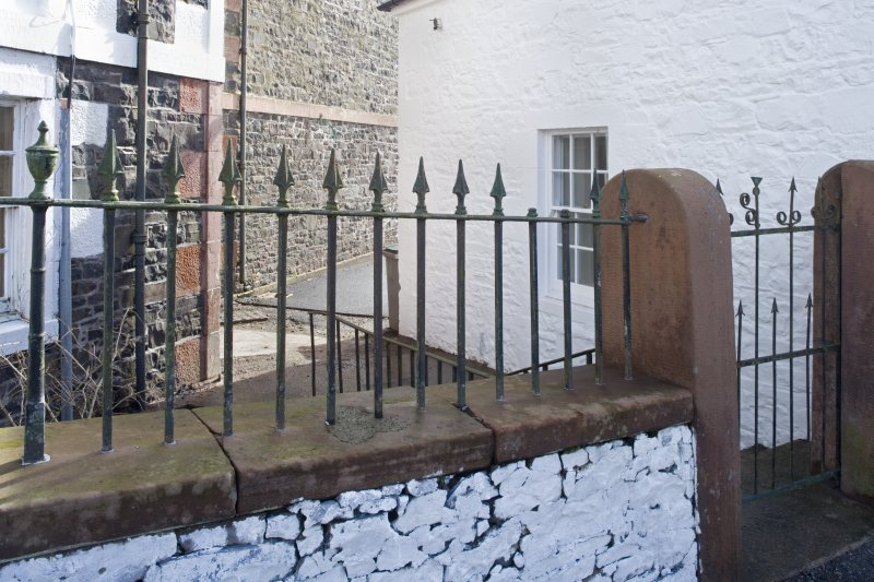 Stable court gate and railings.