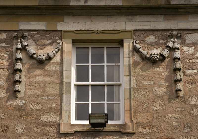 Detail of window and carved swags