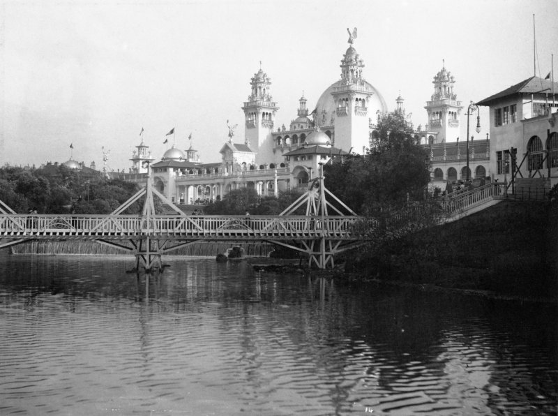 Digital copy of photograph taken during the Glasgow International Exhibition in 1901.