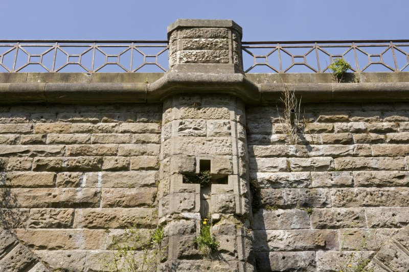 Detail of parapet on S side