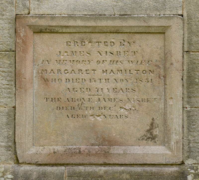 Detail of memorial plaque