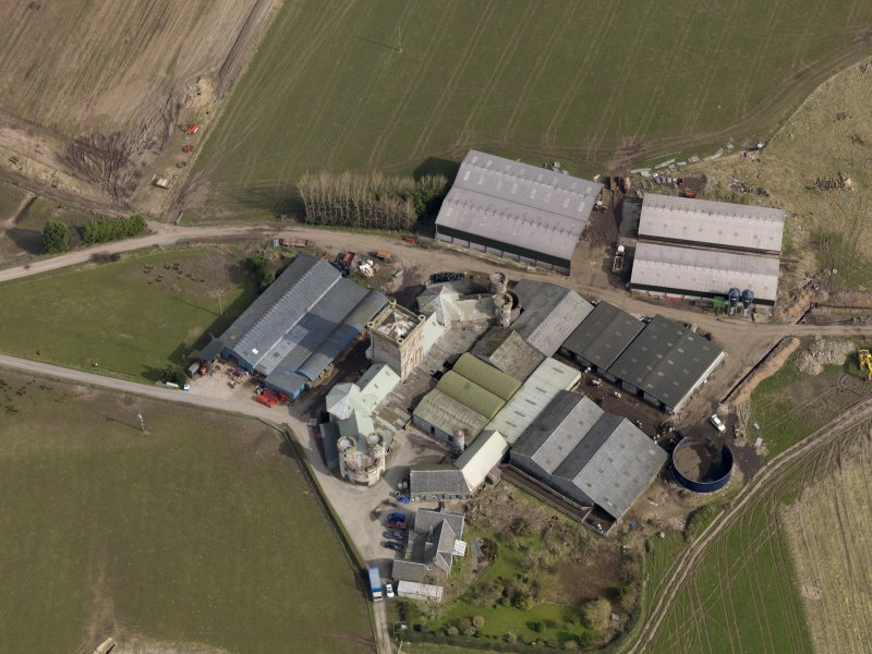 Oblique aerial view centred on the Home Farm, taken from the SW.