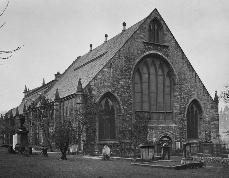 EPS/5/5  Photograph, with text; 'Greyfriars Churchyard  East Division View of Church from East' Edinburgh Photographic Society Survey of Edinburgh and District, Ward XIV George Square