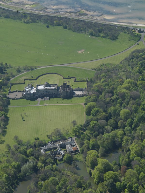 Oblique aerial view centred on Gosford House and policies, taken from the ENE.