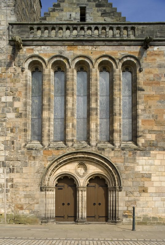 Detail of W entrance of the Parish Church Of The Holy Trinity, St Andrews.