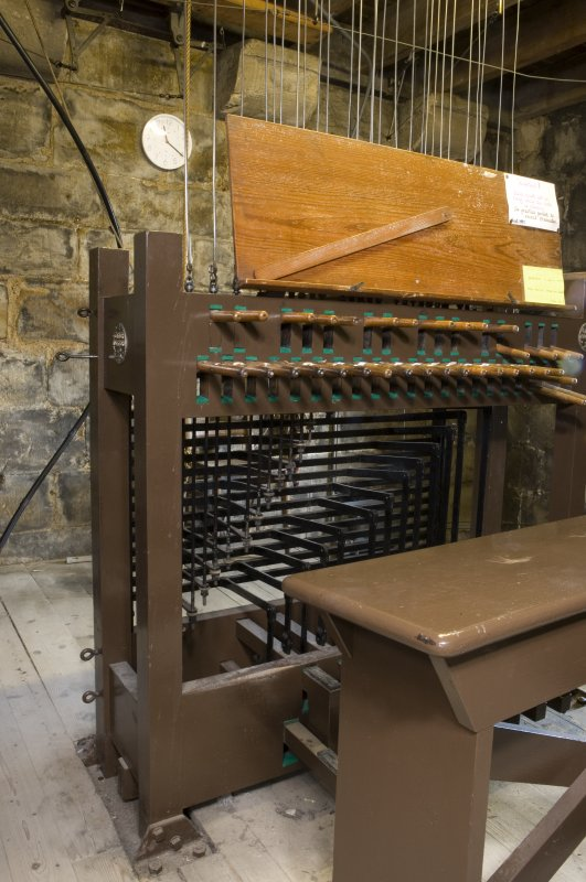 Interior. Detail of carillon of bells keyboard