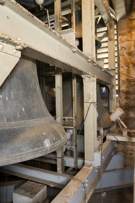 Interior. Detail of carillon bells