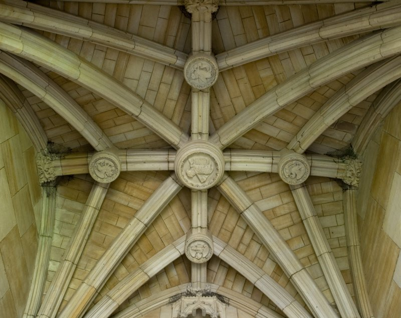 Knox Porch, detail of vault in the Parish Church Of The Holy Trinity, St Andrews.