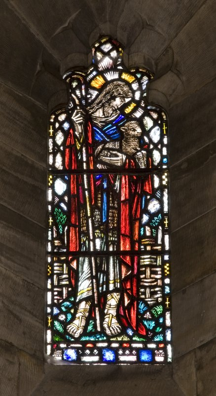 Interior.South Transept West wall View of stained glass window The Good Shepherd by Herbert Hendrie  c.1930
