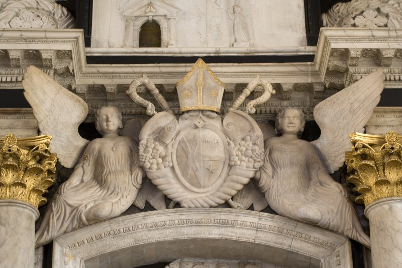 Interior. South Transept Detail of Archbishop James Sharp monument