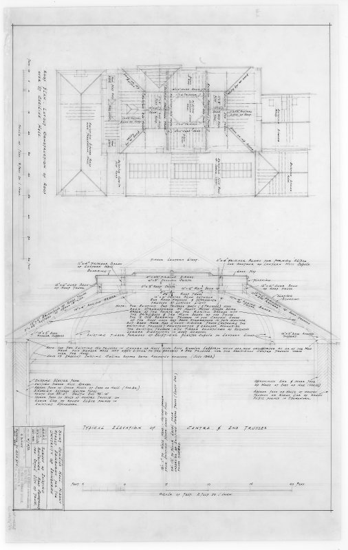Survey of Existing Buildings, Roof Construction, Detail Elevation  of Truss.